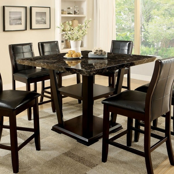 Kitchenpicture Of Square Dining Table For 8 Size And With: Shop Furniture Of America Elivia Modern Faux Marble