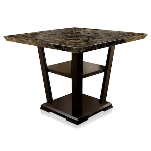 Furniture of America Ilis Modern Cherry 47-inch Counter Height Table