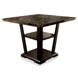 Furniture of America Elivia Modern Faux Marble Counter Height Table