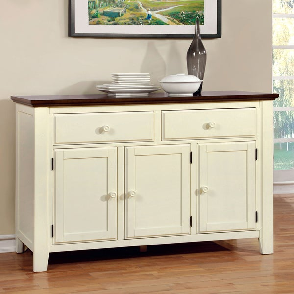 Furniture of America Bethannie Cottage Style 2-Tone Dining Server