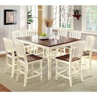 Maison Rouge Phoebe 9-piece Cottage Style Counter Height Dining Set