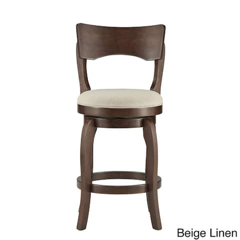 Lyla 24-inch Brown Counter Height Swivel Stool by iNSPIRE Q Classic