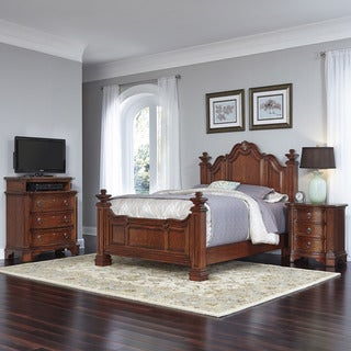 Home Styles Santiago Bed, Night Stand, and Media Chest