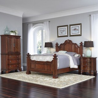 Santiago Bed, Night Stand, and Door Chest by Home Styles