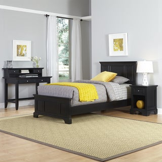 Bedford Twin Bed, Night Stand, and Student Desk with Hutch by Home Styles