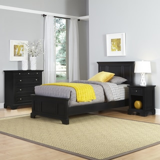 Porch & Den Bell Bridge Black Twin Bed, Nightstand, and Chest Set