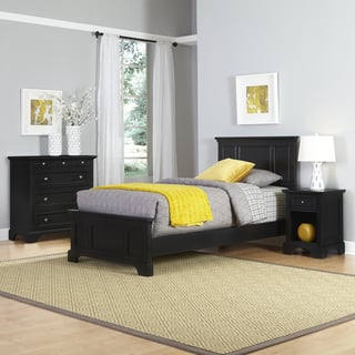 Clay Alder Home Bell Bridge Black Twin Bed Nightstand And Chest Set