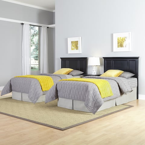 Bedford Two Twin Headboards and Night Stand by Home Styles
