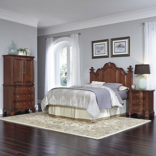 Santiago Headboard, Two Night Stands, and Door Chest by Home Styles