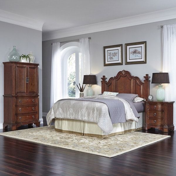 Santiago Headboard, Night Stand, and Door Chest by Home Styles