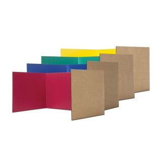 Flipside Paper 12-inch x 48-inch Assorted Color Study Carrels (Case of 24)