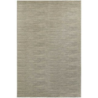 Distressed Stripe Beige/ Ivory Rug (3'10 X 5'5)