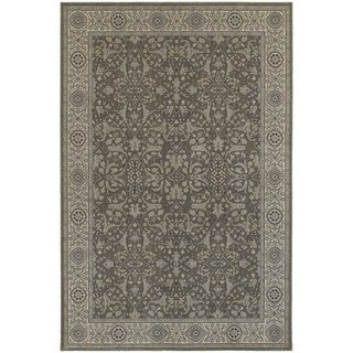 Updated Persian Grey/ Ivory Rug (3'10 x 5'5)