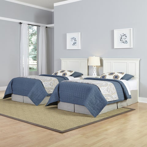 Havenside Home Port Lavaca Two Twin Headboards and Nightstand