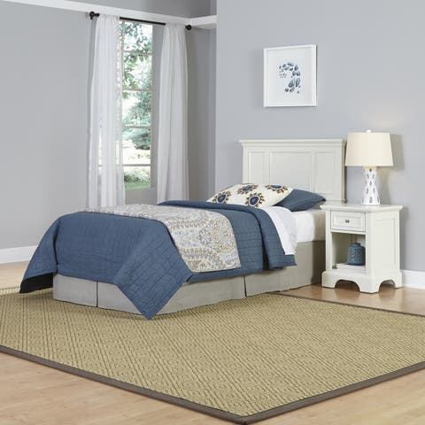 Naples Twin Headboard and Night Stand by Home Styles