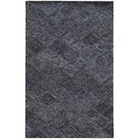 Pantone Universe Colorscape Loop Pile Faded Diamond Blue/ Grey Wool Rug (3'6 x 5'6)