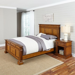 Home Styles Americana Distressed Oak Bed and Night Stand