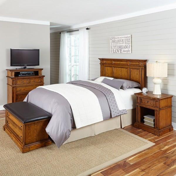 Weathered Oak Bedroom Sets Bedroom Ceiling Options Bedroom Sliding Cupboard Designs Bedroom Lighting Pinterest: Americana Distressed Oak Headboard, Night Stand, Media