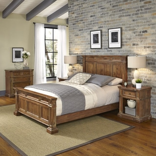Home Styles Americana Vintage Bed, Two Night Stands, and Chest