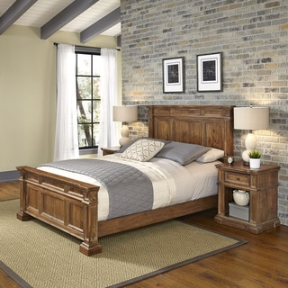 Home Styles Americana Vintage Bed and Two Night Stands
