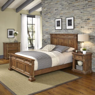 Home Styles Americana Vintage Bed, Night Stand, and Chest