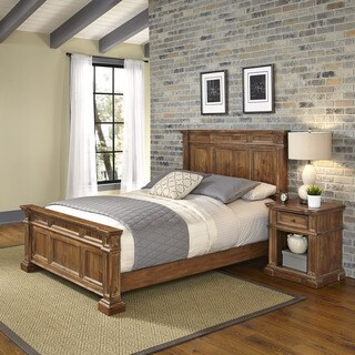 Americana Vintage Bed and Night Stand by Home Styles