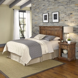 Home Styles Americana Vintage Headboard and Night Stand