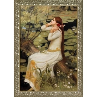 John William 'Waterhouse Ophelia' Hand-painted Framed Canvas Art