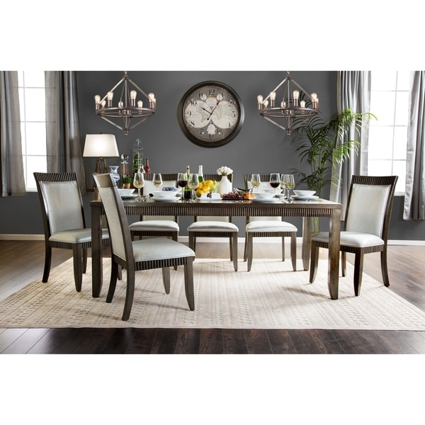 Furniture of America Dram Urban Grey 78-inch Solid Wood Dining Table