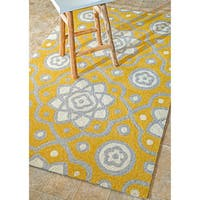 nuLOOM Handmade Modern Abstract Indoor/ Outdoor Yellow Rug (7'6 x 9'6) - 7'6 x 9'6