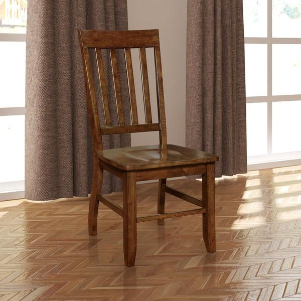 Furniture of America Ralphie Dark Oak Dining Chair (Set of 2)