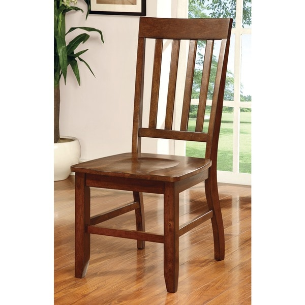 Furniture Of America Ralphie Dark Oak Dining Chair Set Of