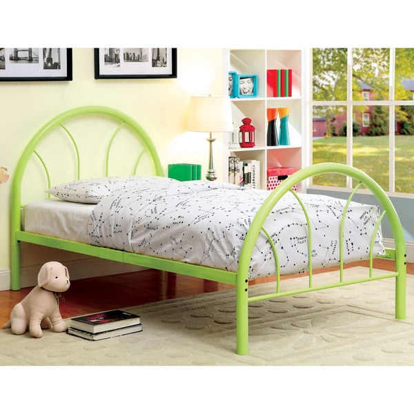 Furniture of America Hind Contemporary Twin Metal Double Arch Kid Bed