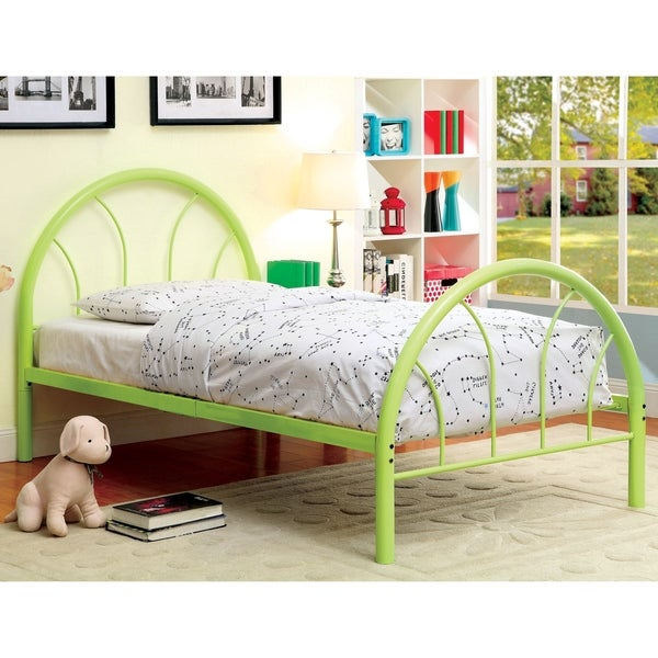 Furniture of America Hind Contemporary Full Metal Double Arch Kid Bed. Opens flyout.