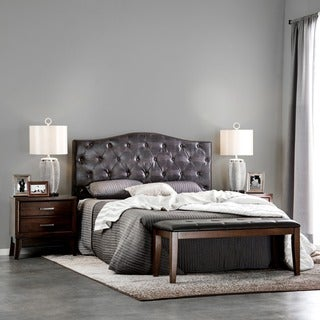 Furniture of America Huntress II Crocodile Leatherette Button Tufted Headboard