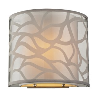 Brushed Nickel Autumn Breeze Collection 1-Light sconce