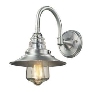 Brushed Aluminum Insulator Glass Collection 1-Light Outdoor Sconce