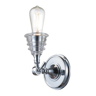 Polished Chrome Insulator Glass Collection 1-Light Sconce