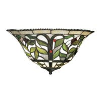 Tiffany-style Bronze Latham Collection 2-Light Sconce