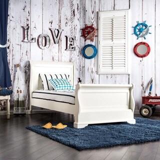 Furniture of America Elegant Tiana White Sleigh Bed