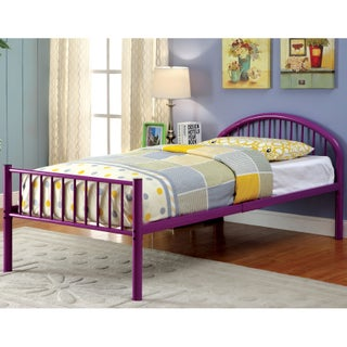 Furniture of America Linden Single Arch Metal Full Bed (Option: Purple)