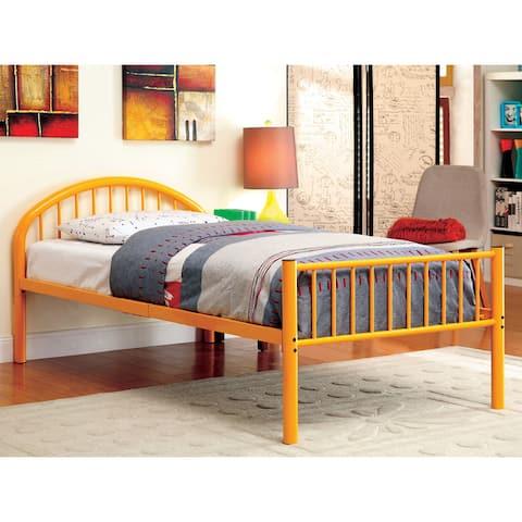 Furniture of America Hind Modern Full Metal Single Arch Kid Bed