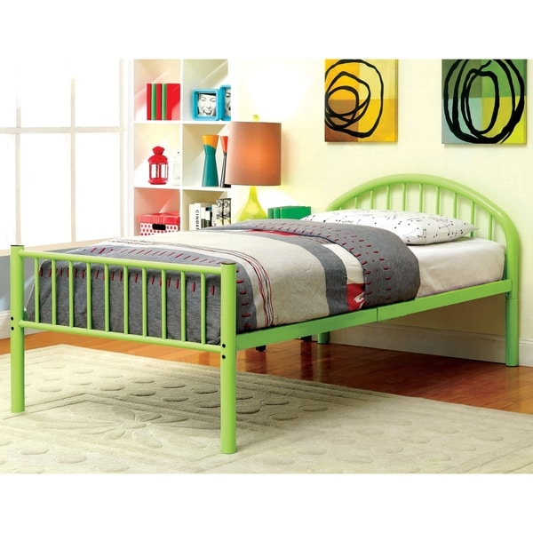 Furniture of America Hind Modern Twin Metal Single Arch Kid Bed