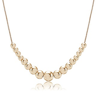 Mondevio Sterling Silver Graduated Sliding Beads Necklace (3 options available)
