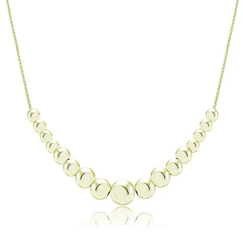 Mondevio Sterling Silver Graduated Sliding Beads Necklace