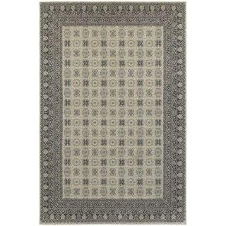 All-over Ivory/ Grey Medallion Area Rug (5'3 x 7'6)