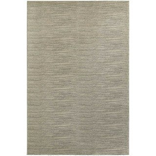Distressed Beige/ Ivory Stripe Area Rug (5'3 x 7'6)