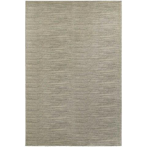 "Gracewood Hollow Perea Distressed Beige/ Ivory Stripe Area Rug - 6'7"" x 9'6"""