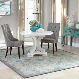 Pantone Universe Color Influence Hand-crafted Eroded Oriental Grey/ Green Wool Area Rug (5' x 8') - 5' x 8'