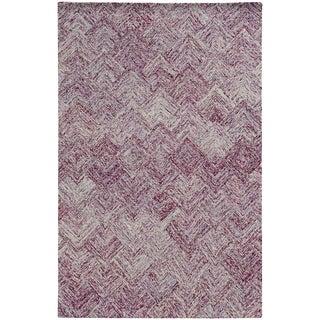Colorscape Loop Pile Faded Diamond Purple/ Purple - 5' x 8'